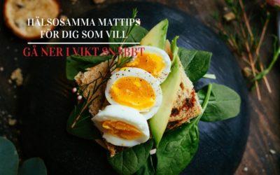 Hälsosamma mattips för dig som vill gå ner i vikt snabbt