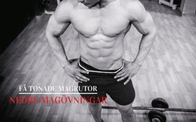 Nedre magövningar: En grym magträning hemma och på gym!