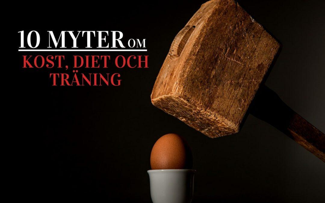 10 myter om kost, diet och träning